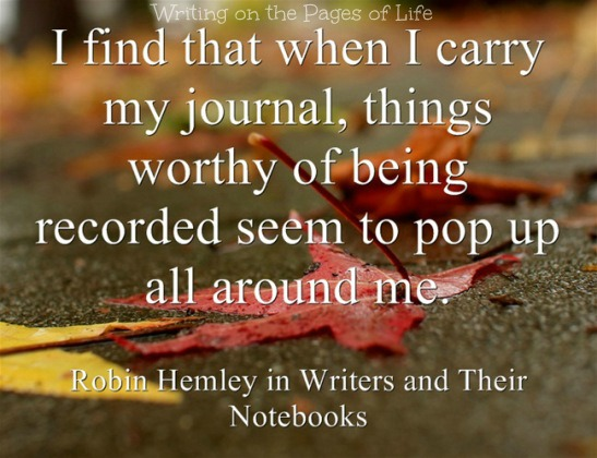 Carrying a journal