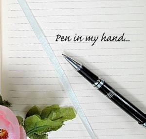 pen in my hand