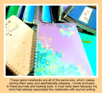 spiralsame size notebooks with caption400