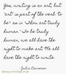 Writing is an art