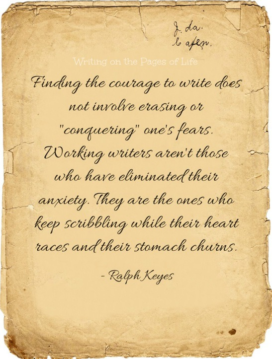 Finding the courage to write